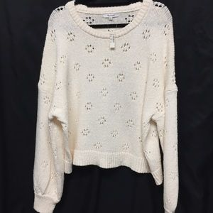Madewell Ivory Heavy Knit Pullover Sweater 2X NWT
